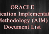 Oracle Application Implementation Methodology (AIM) Document List