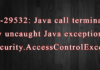 ORA-29532: Java call terminated by uncaught Java exception: java.security.AccessControlException
